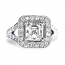 'Halo' Engagement Ring - Asscher Diamond