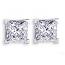Princess Diamond Earrings - 0.62 carats total E VS1 – Certified