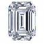 Emerald Cut Diamond 0.95ct - F VVS1