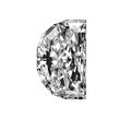 Half Moon Shape Diamond 0.27ct - E SI1