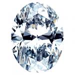 Oval Shape Diamond 0.42ct - H SI1