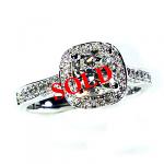 'Halo' Diamond Engagement Ring - Cushion 1.01ct G SI1