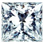 Princess Cut Diamond 0.52ct - F VVS2