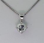 Round Diamond Solitare Pendant - 0.31ct H SI2