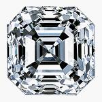 Asscher Cut Diamond 0.26ct - E VVS1