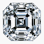 Asscher Cut Diamond 0.31ct - E VVS2