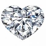 Heart Shape Diamond 0.33ct - E VS2