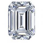 Emerald Cut Diamond 0.58ct - F IF