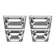 Trapezoid Diamond Pairs 1.79ct - E/F VS