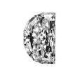 Half Moon Shape Diamond 0.76ct - E SI1