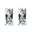 Baguillion Diamond Pairs 0.34ct - F VS