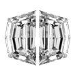 Cadi Cut Diamond Pairs 0.58ct - E/F VS