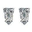 Tapered Bullet Diamond Pairs 0.25ct - E/F VS
