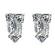 Tapered Bullet Diamond Pairs 0.40ct - E/F VS