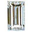 Baguette Cut Diamond 0.39ct - E VVS2