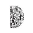Half Moon Shape Diamond 0.78ct - F SI2