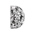 Half Moon Shape Diamond 0.69ct - D VVS2
