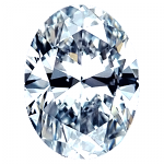 Oval Shape Diamond 0.75ct - D SI2