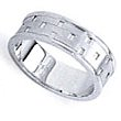 Wedding Ring - Gents Wedder - Woven Design Band