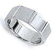 Wedding Ring - Gents Wedder - Hexagon Design Band