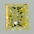 Princess Cut Diamond 0.69ct - Light Fancy Yellow SI1