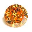 Round Brilliant Cut Diamond 0.17ct - Vivid Fancy Orange Yellow SI2
