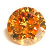 Round Brilliant Cut Diamond 0.19ct - Vivid Fancy Orange Yellow SI1