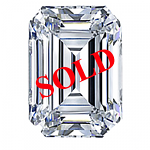 Emerald Cut Diamond 1.23ct - F SI1