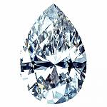 Pear Shape Diamond 0.29ct - D VVS1