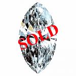 Marquise Cut Diamond 0.33ct - D IF
