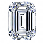 Emerald Cut Diamond 0.66ct - D IF