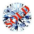 Round Brilliant Cut Diamond 0.53ct - D VS2