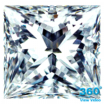 Princess Cut Diamond 0.71ct - H VS2