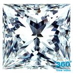 Princess Cut Diamond 0.83ct - E IF