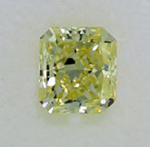 Radiant Cut Diamond 0.62ct - VVS1 Fancy Yellow