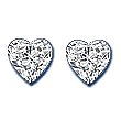 Heart Shape Diamond Pair 0.16ct - COLLECTION VS