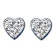 Heart Shape Diamond Pair 0.16ct - COLLECTION VS