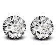 Round Brilliant Cut Diamond Pair - 0.37ctw