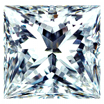 Princess Cut Diamond 0.52ct - D VVS1