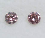 Argyle Round Brilliant Cut Diamond Pair Fancy Pink 0.11ctw