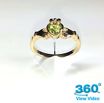 Peridot Claddagh Dress Ring