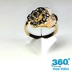 Ladies Gold Dress Ring
