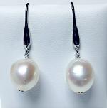 'Ikecho Pearls' Sterling Silver Freshwater Pearl Drop Earrings