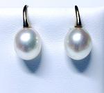 'Ikecho Pearls' 9ct Yellow Gold Freshwater Pearl Drop Earrings