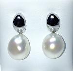 'Ikecho Pearls' Sterling Silver Freshwater Baroque Pearl Earrings