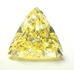 Trilliant Cut Diamond 0.24ct - Intense Fancy Yellow VS1