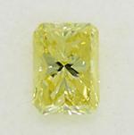 Radiant Cut Diamond 0.28ct - Fancy Yellow VVS1