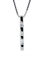 Trilogy Diamond Pendant 0.10ctw - F SI1