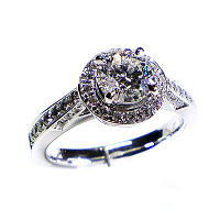 'Halo' Diamond Engagement Ring - 0.75cts