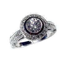 'Halo' Diamond Engagement Ring - 1.40cts
